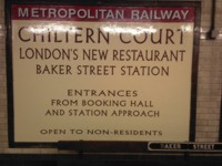 Mcqillian Signs | Hand-written restoration of historic sign at Baker Street Underground Station.