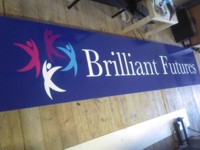 Mcqillian Signs | Office Fascia Sign in Multi-coloured printed vinyl.