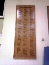 Mcqillian Signs | Large School Honours Board.